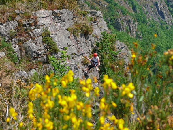 Bergsteigen in der Normandie